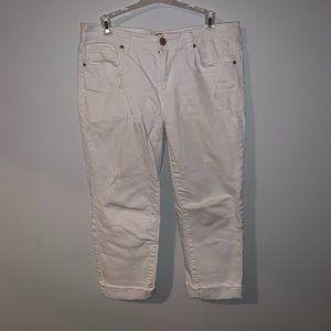 Distressed White Girlfriend Boyfriend Jeans